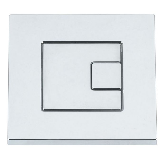 Tavistock Square Dual Flush Button Chrome SQFB
