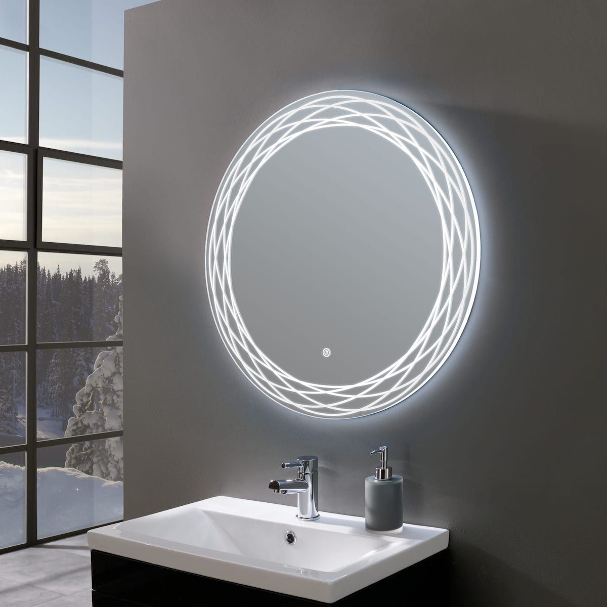 Finesse Ultra Slim Round Led Illuminated Mirror 700mm