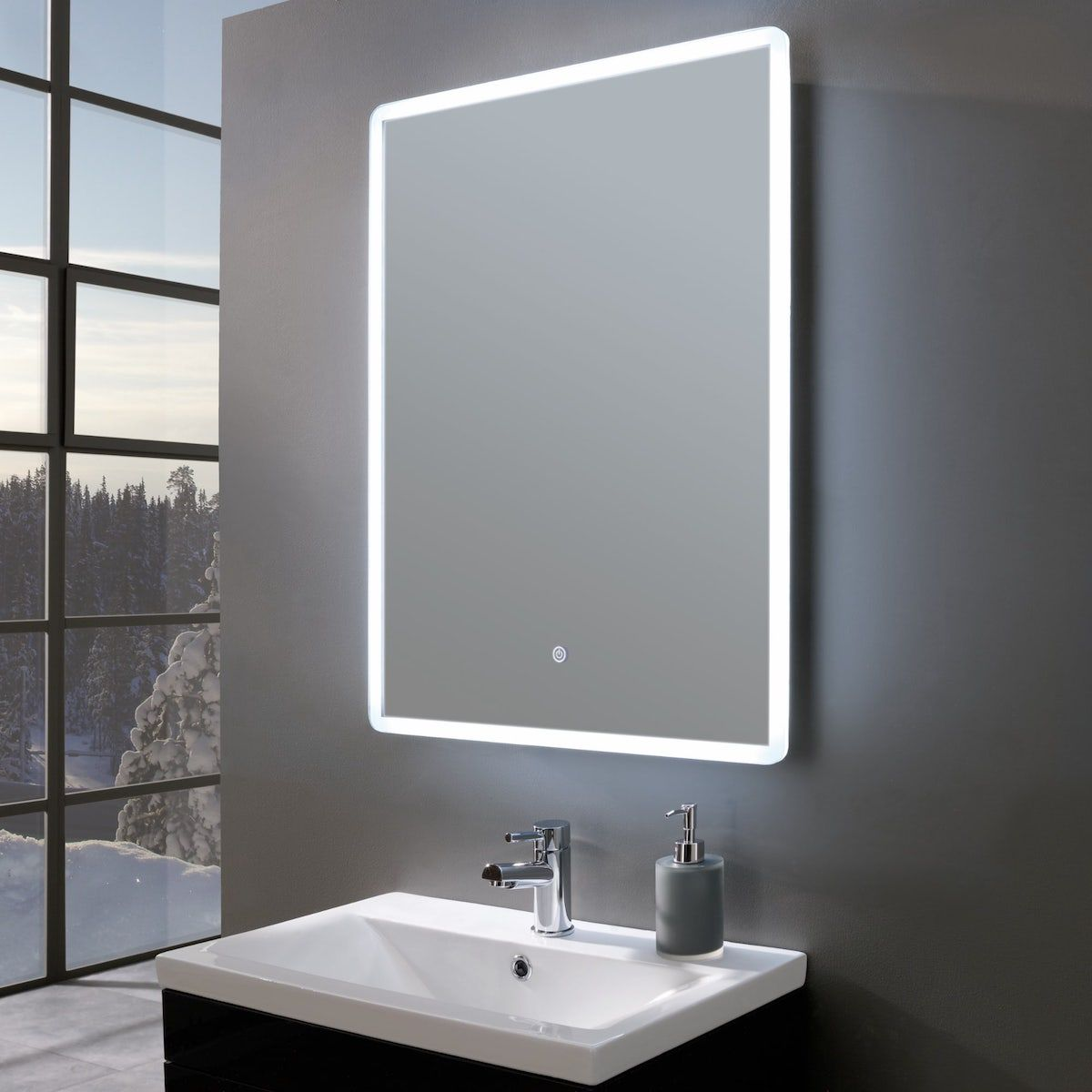 Reflections Elegance Ultra Slim Led Mirror Shaver Socket 600 X 800