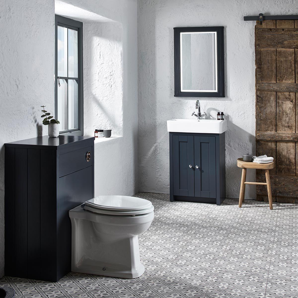 Tavistock Lansdown Vanity Unit Basin, Dark Grey Bathroom Vanity Unit