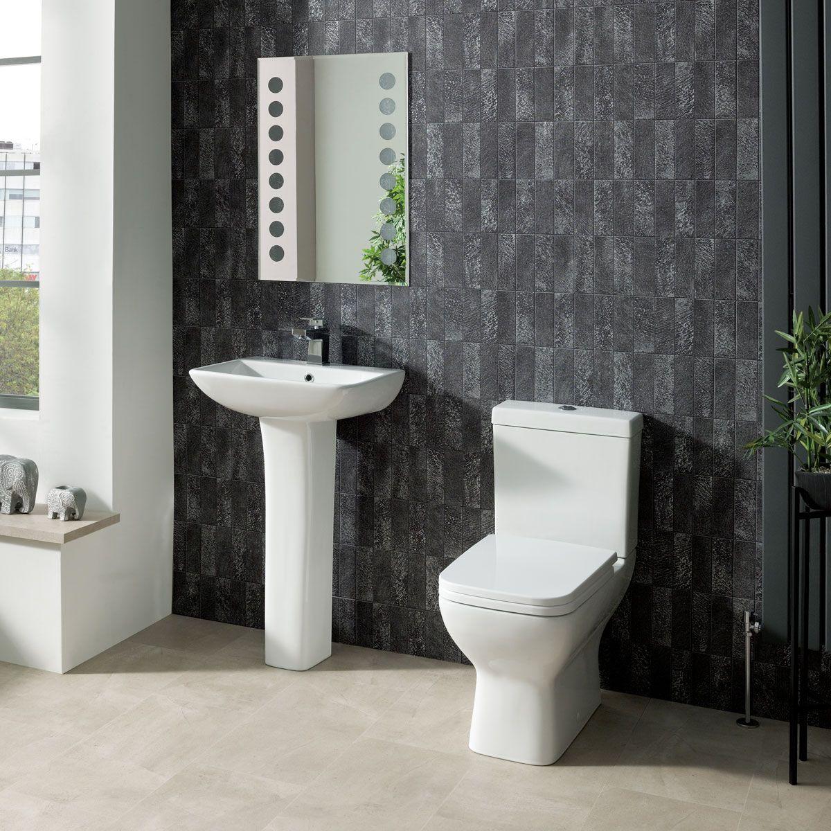 Richmond 1 Tap Hole Basin Pedestal Bathroom Sink 500mm
