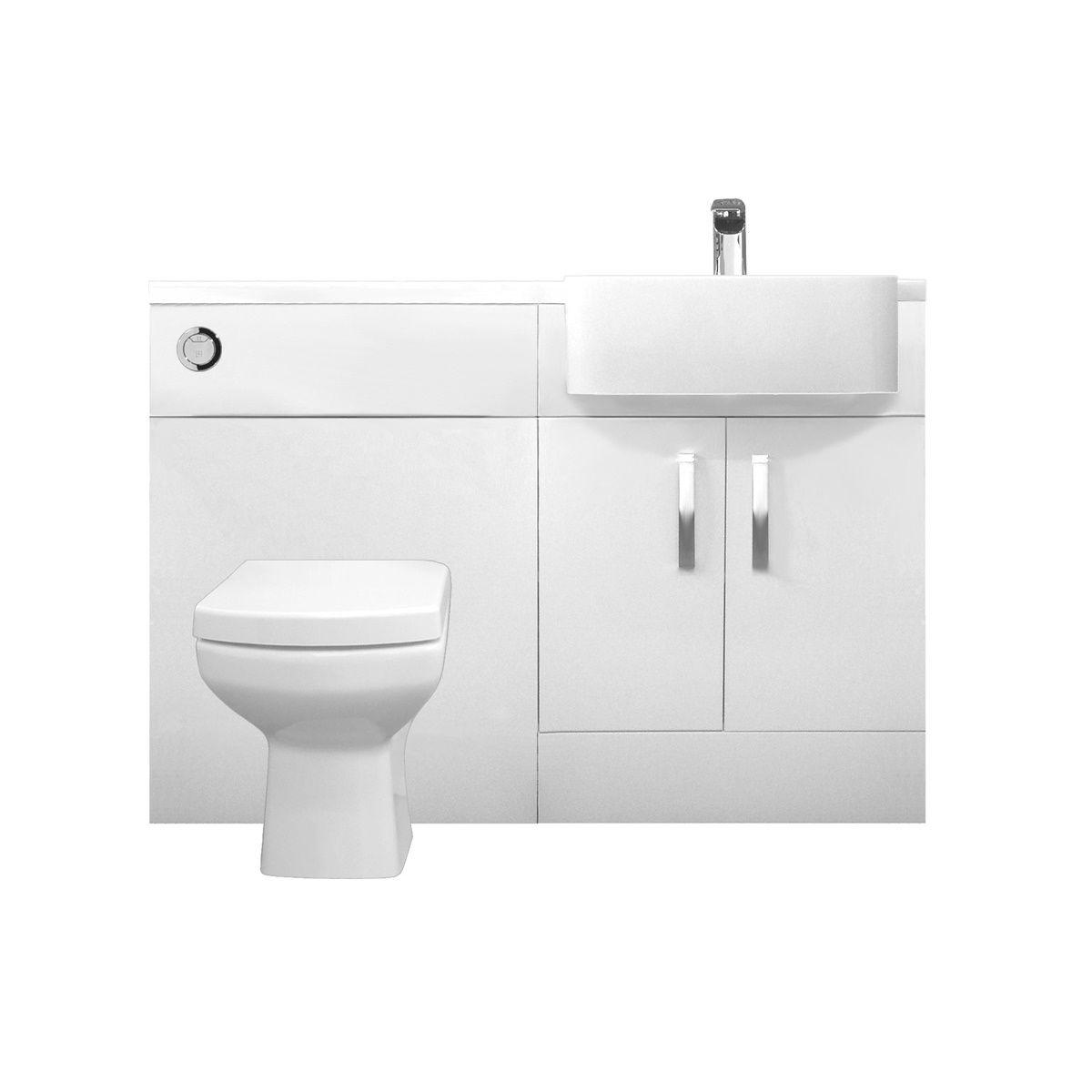 Tavistock Courier Furniture Run Isocast Basin White Gloss 1200mm Right Hand