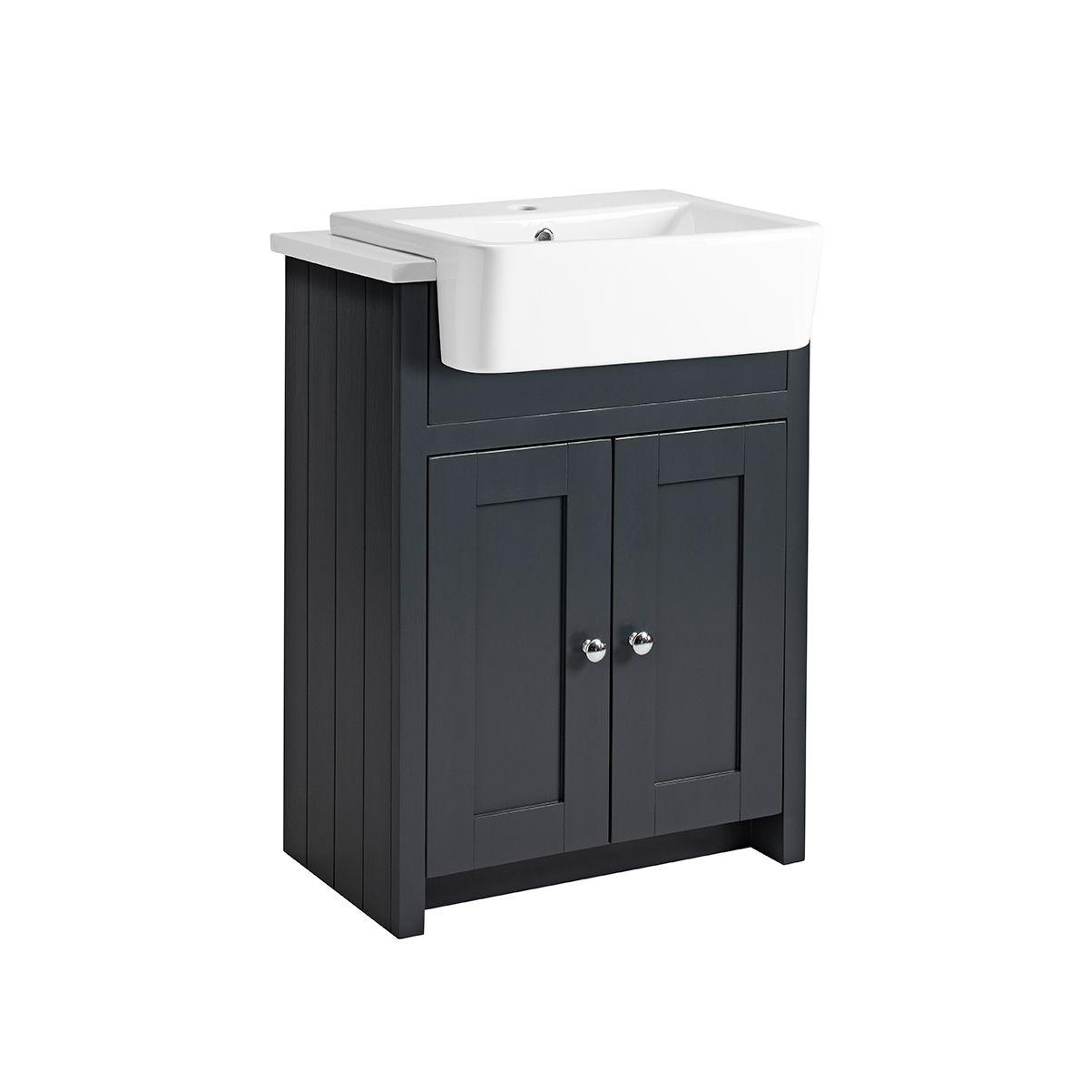 Tavistock Lansdown Semi Countertop, Dark Grey Bathroom Vanity Unit