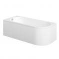 Trojancast J Shape Reinforced Bath 1695 x 745mm with Panel Left Hand