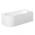 Trojan J Shape Bath 1700 x 750 with Panel Right Hand