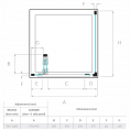 Kudos Pinnacle 8 Centrefold Shower Door 1000mm Dimensions