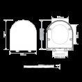 Tavistock Aerial Soft Close Toilet Seat White Dimensions