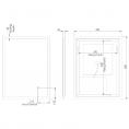 Tavistock Beta Ultra Slim LED Illuminated Mirror 450 x 600mm Dimensions