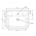 Tavistock Vitoria Vanity Unit & 1 Tap Hole Basin Pebble Grey 600mm Dimensions 2