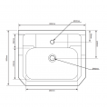 Tavistock Vitoria Vanity Unit & 1 Tap Hole Basin White 600mm Dimensions 2