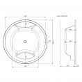 Trojan Oasis Round Inset Double Ended Bath 1800 Dimensions