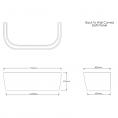 Trojancast Reinforced Curved D Shape Bath 1700 x 800mm with Panel Dimensions 2