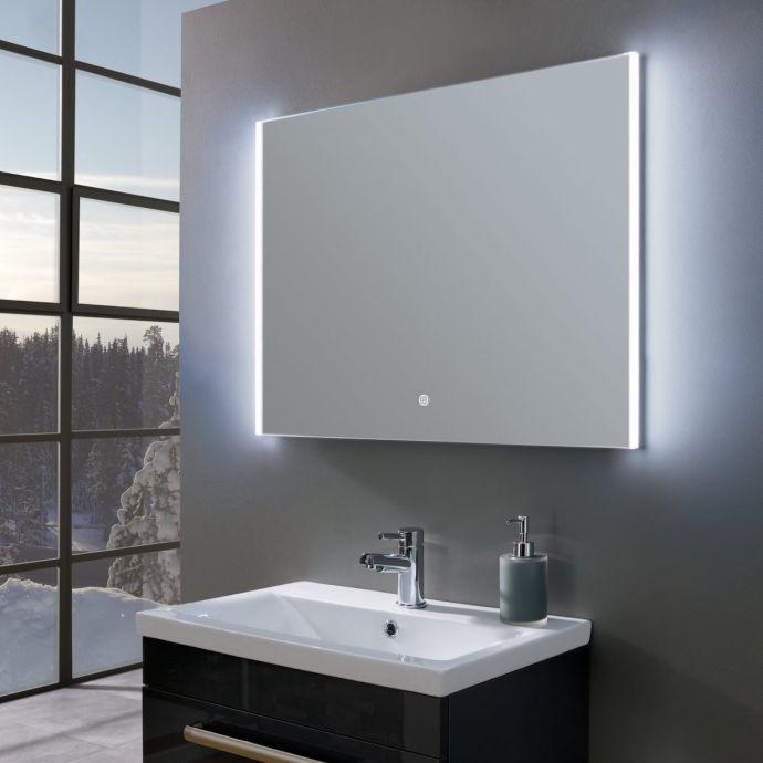 Style Ultra Slim Landscape LED Illuminated Mirror 800 x 600
