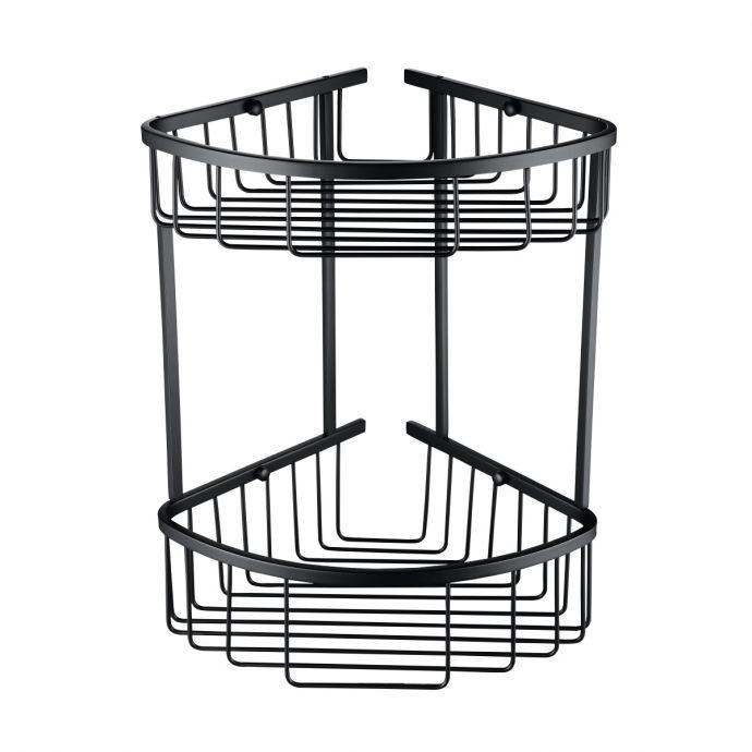 Alfred Victoria Double Round Corner Basket Matt Black