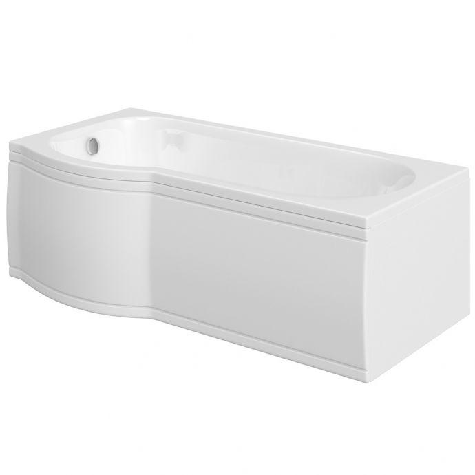 Trojan Concert Acrylic P Shape Shower Bath Panel 1675