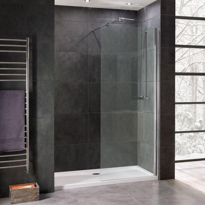Coral 8mm Wet Room Glass Shower Panel 1100mm