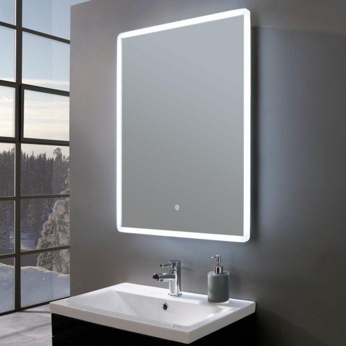 Elegance Ultra Slim Portrait LED Illuminated Mirror with Shaver Socket 500 x 700mm