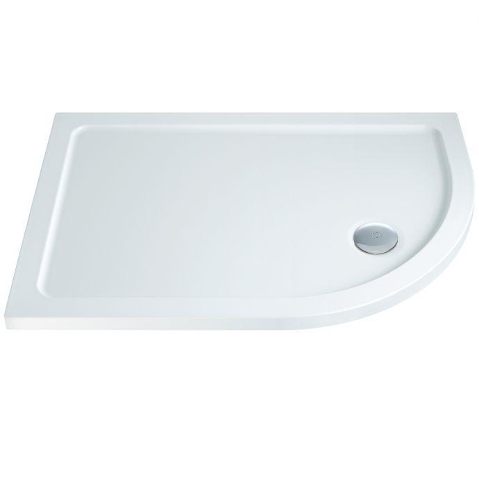 Elements Slimline Offset Quadrant Shower Tray 1200 x 760 Right Hand