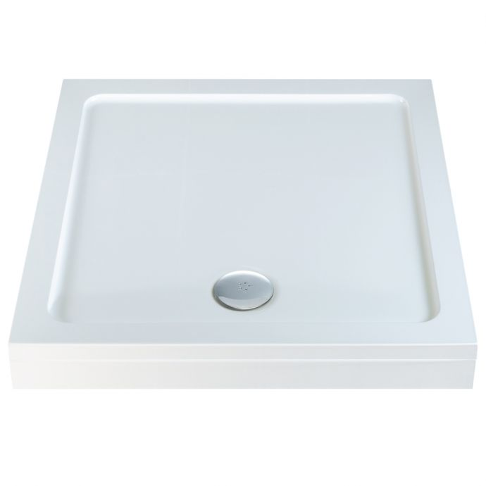 Elements Slimline Square Shower Tray with Riser Kit 800 x 800