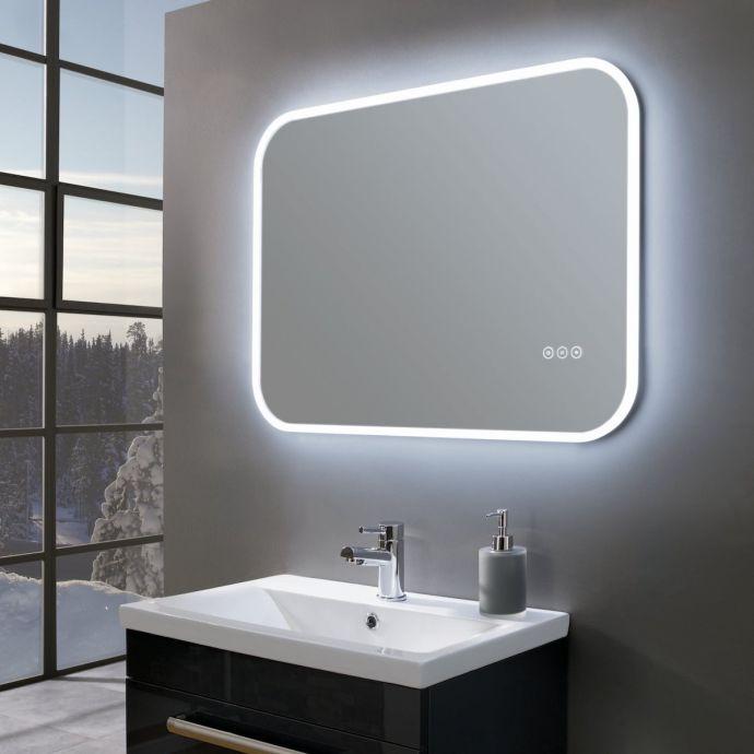 Radiance Ultra Slim Landscape LED Illuminated Mirror 800 x 600