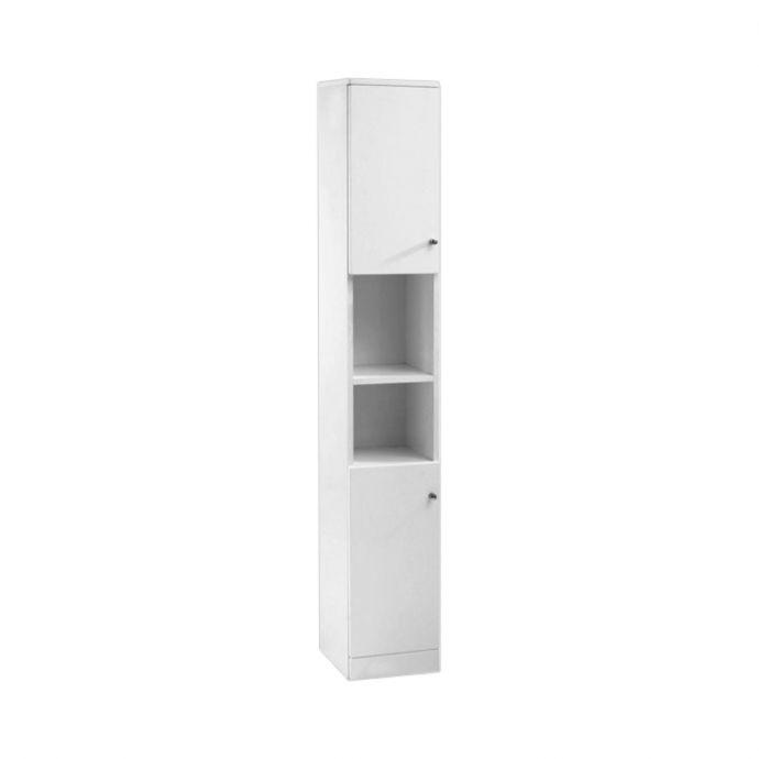 Ikoma Wall Hung Tall Storage Unit White 300