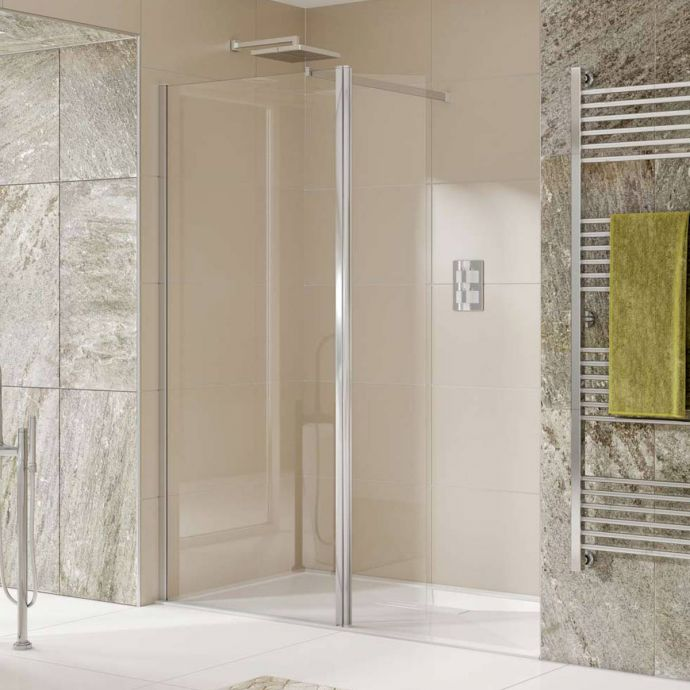 Kudos Aquamark 8mm Wet Room Glass Shower Panel 760mm