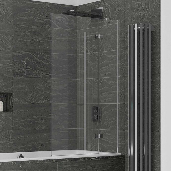 Kudos Inspire 6mm Two Panel Out Swing Bath Screen Right Hand