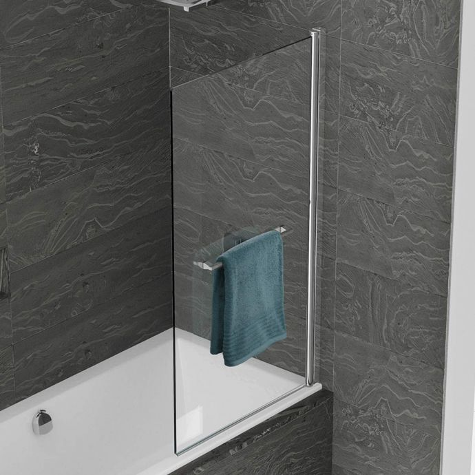Kudos Inspire 8mm Standard Bath Shower Screen with Towel Rail