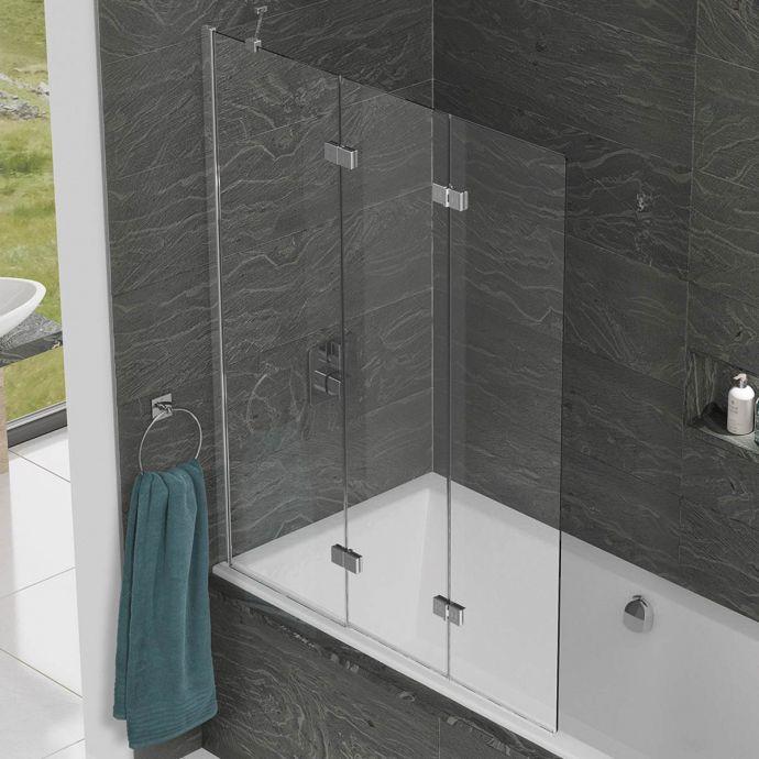 Kudos Inspire 6mm Three Panel In Fold Bath Screen Left Hand