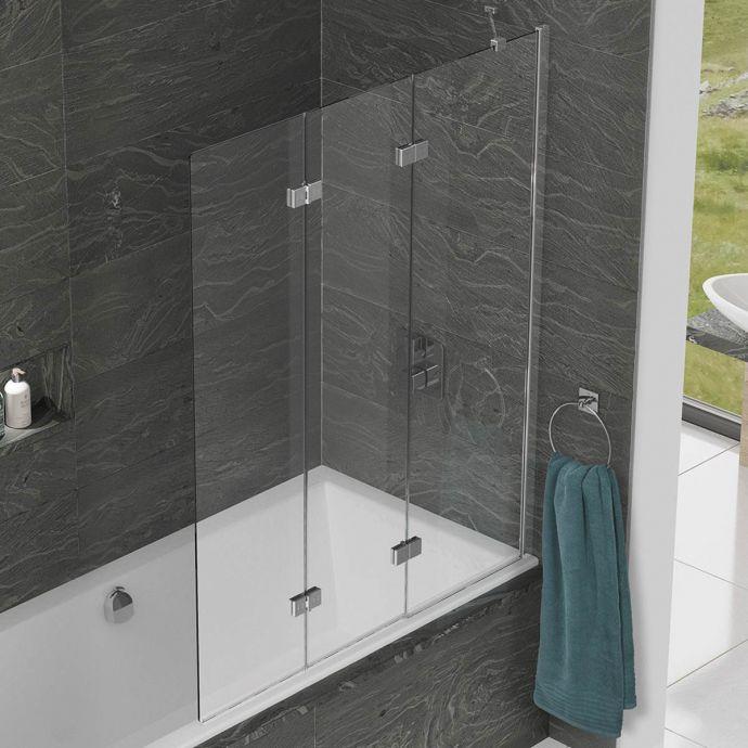 Kudos Inspire 6mm Three Panel In Fold Bath Screen Right Hand