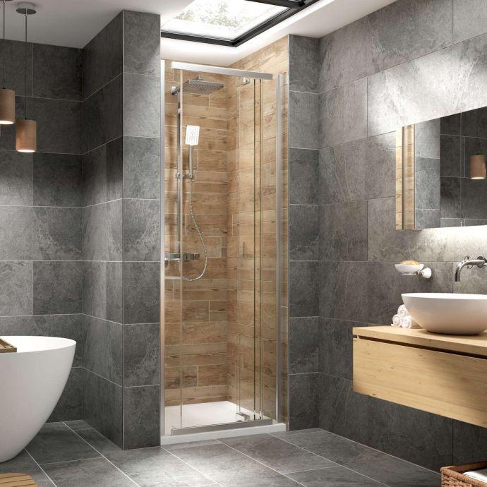 Kudos Pinnacle 8 Centrefold Shower Door 1000mm