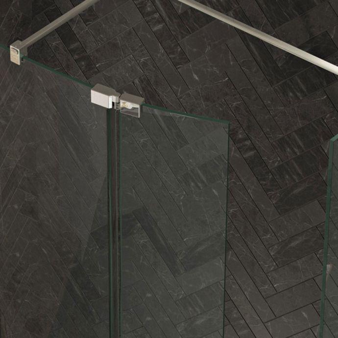 Kudos Ultimate 2 8mm Wet Room Glass Curved Deflector Panel Left Hand 300