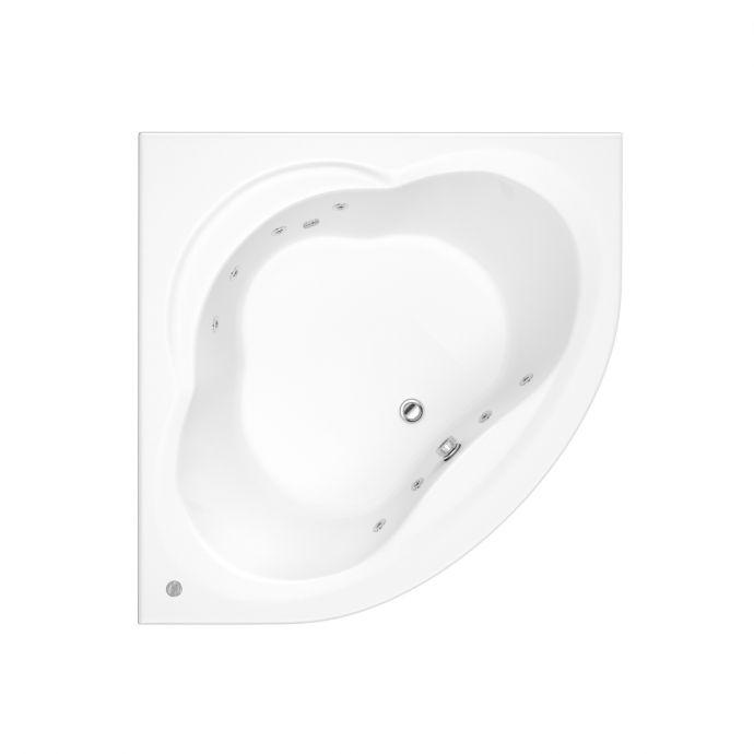 Trojan Laguna 8 Jet Whirlpool Corner Bath 1200 x 1200 with Bath Waste