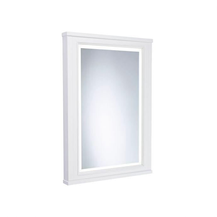 Tavistock Lansdown Framed Illuminated Mirror Linen White 556 x 790mm