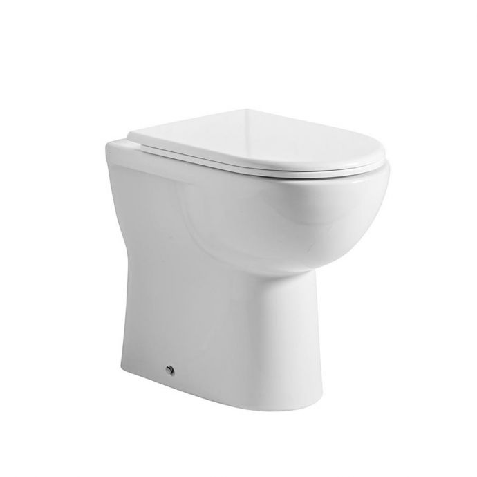Tavistock Micra Comfort Height Back To Wall Toilet with Soft Close Seat