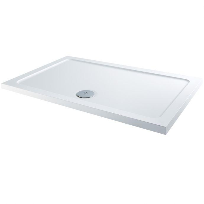 Elements Slimline Rectangular Shower Tray 1300 x 700