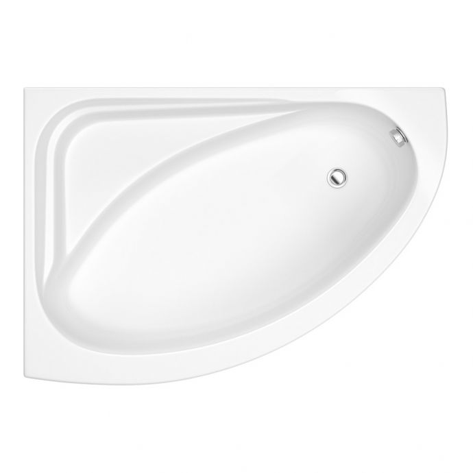 Trojan Orlando Corner Bath 1500 x 1060mm with Panel Left Hand