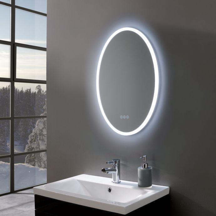 Radiance Ultra Slim Oval LED Illuminated Mirror 500 x 700mm