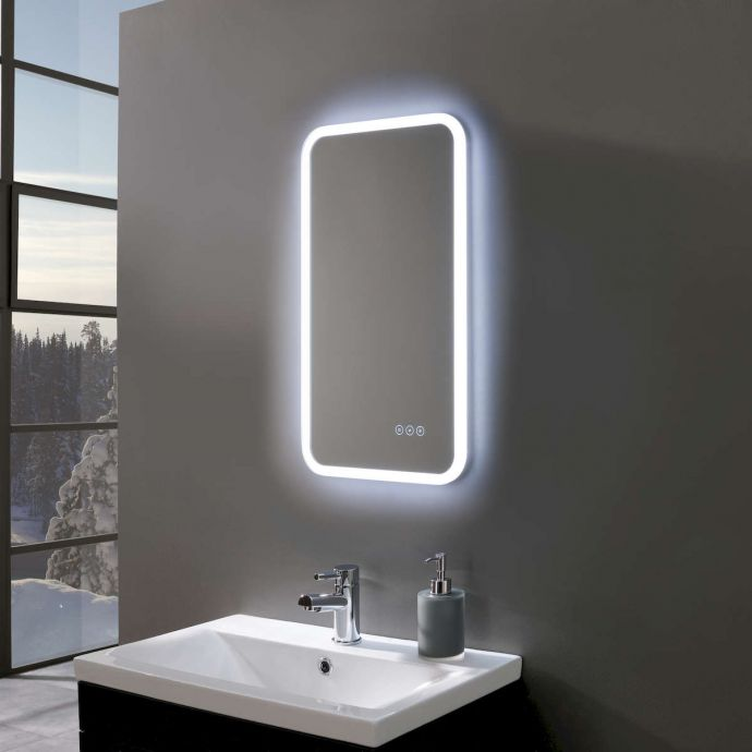Radiance Ultra Slim Portrait LED Illuminated Mirror 400 x 700mm