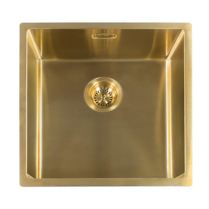 Reginox Miami Stainless Steel Kitchen Sink Gold 540 x 440mm