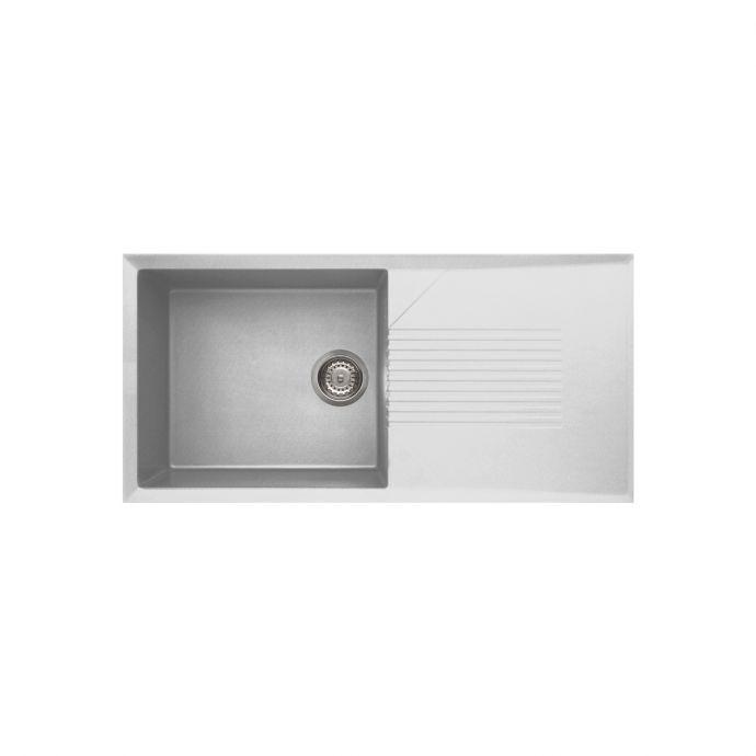 Reginox Tekno 1 Bowl Granite Kitchen Sink White 1000 x 500mm