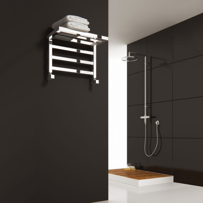 Reina Elvina Designer Towel Radiator Chrome 500 x 350mm