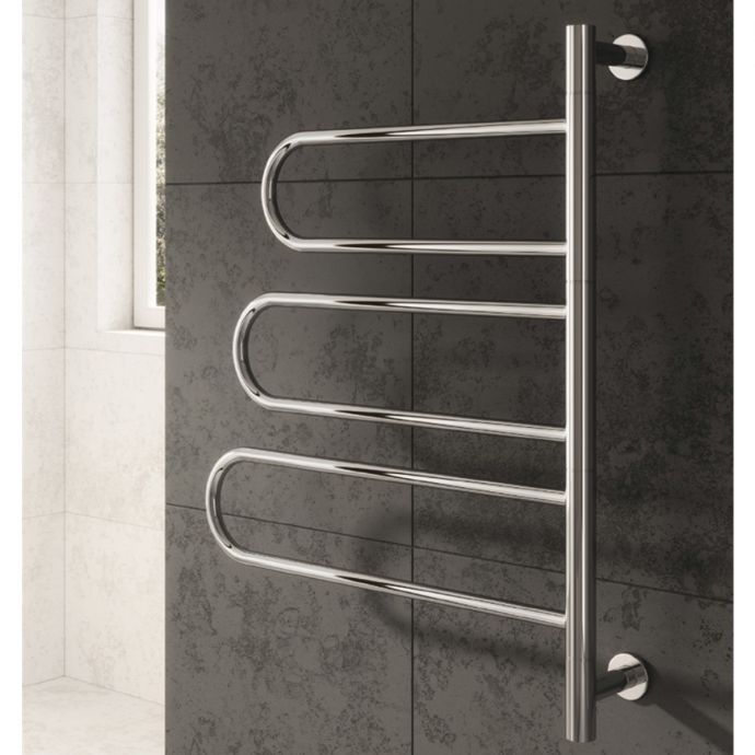 Reina Orne Dry Electric Polished Stainless Steel Designer Radiator 580 x 760mm