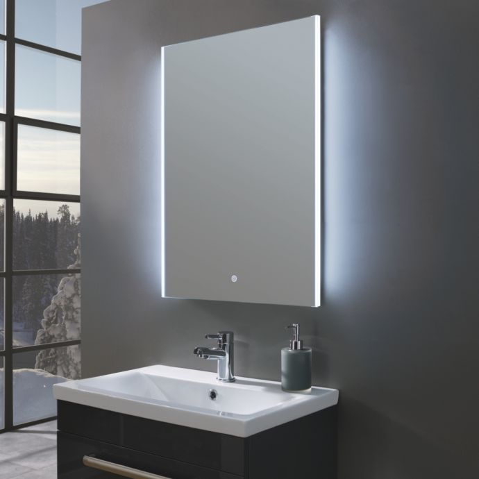 Style Ultra Slim Portrait LED Illuminated Mirror 600 x 800mm