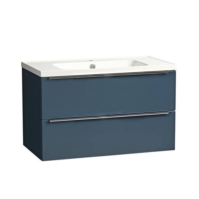 Tavistock Cadence Wall Hung Vanity Unit & Ceramic Basin Oxford Blue 800mm