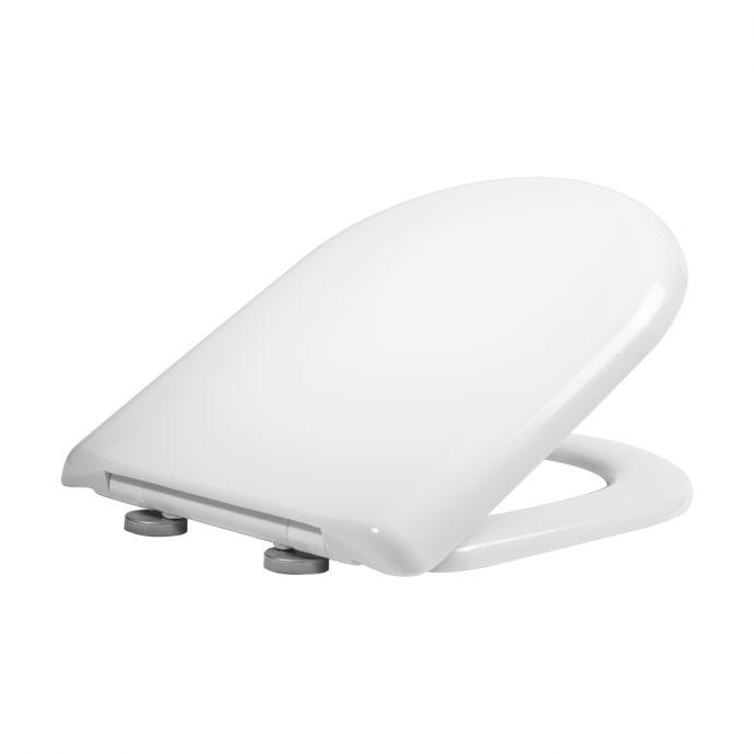 Tavistock Dune D Shape Soft Close Toilet Seat White 8904WSC