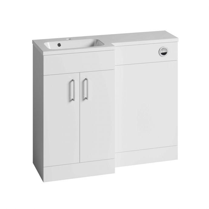 Tavistock Nexus Combination Furniture & Basin White Gloss 1000mm Left Hand