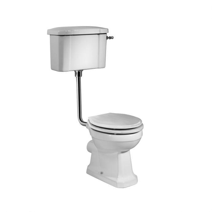 Tavistock Vitoria Low Level Toilet Including White Soft Close Seat