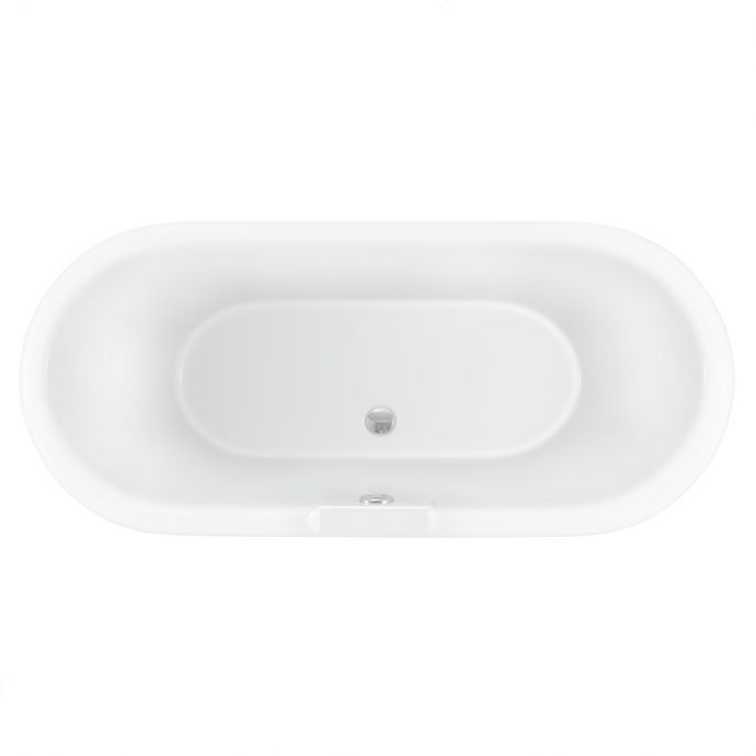 Trojan Clermont Freestanding Double Ended Bath 1695 x 755 with Ball & Claw Feet Black