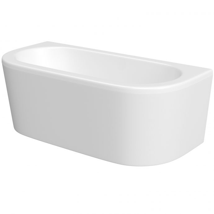 Trojan D Shape Acrylic Bath Panel White 1700 x 800